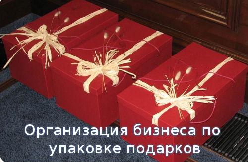 Организация бизнеса по упаковке подарков